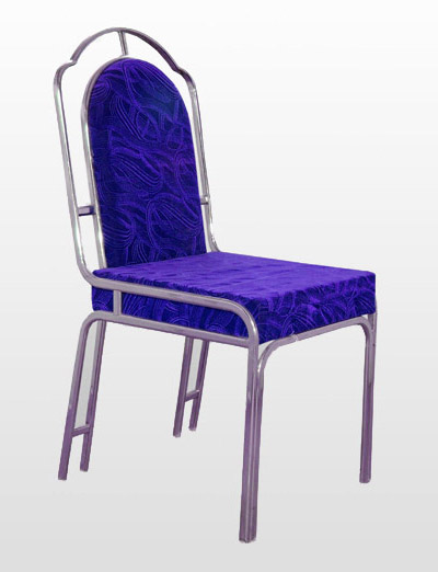 Steel Chair Soft Valvet Seat