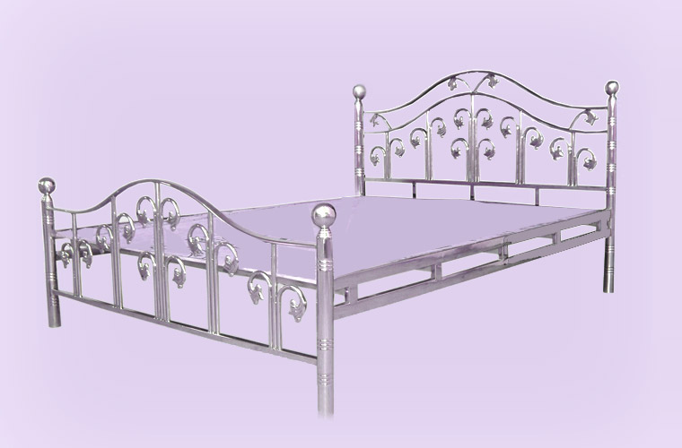 Steel Frame Modern Palang Double Bed