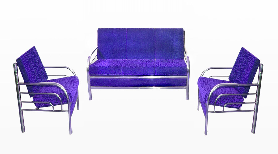 Steel Grill Frame Modern Sofa set
