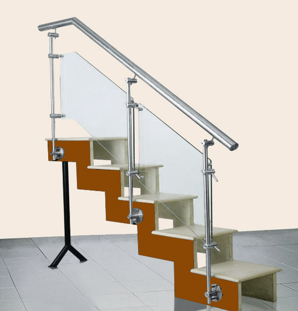 Stair Steel Glass Railing
