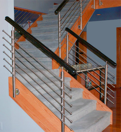 Awesome SS Pipe Bluster Designer Spiral Stair Railing