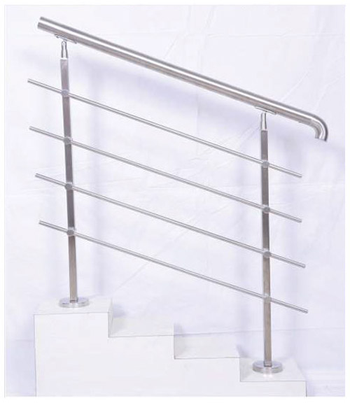 SS Balustrade SS Pipe Horizontal Stair Railing